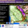 Friday/Saturday Snow Storm To Drop One To Two Feet In Central Sierra