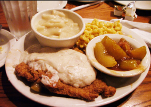 gravy with your lunch at Cracker Barrel