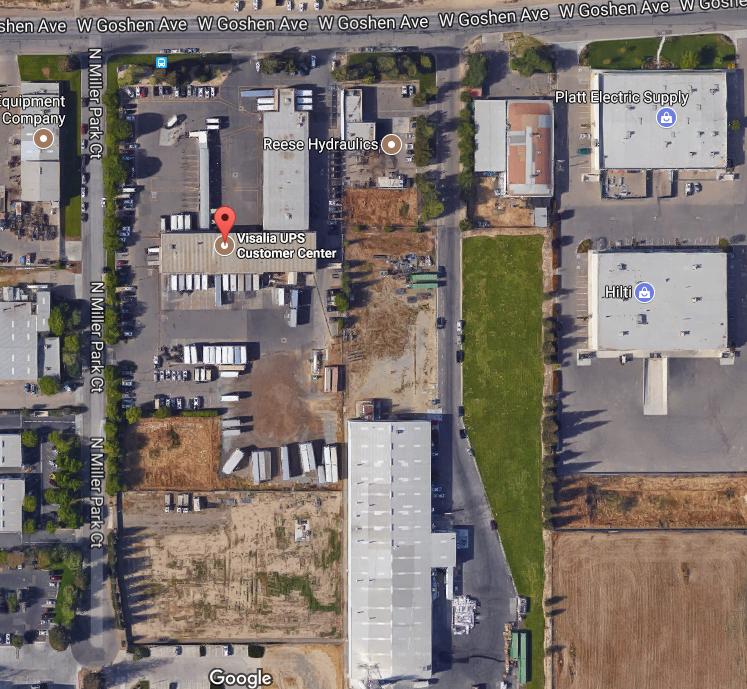 Visalia UPS hub,small and landlocked
