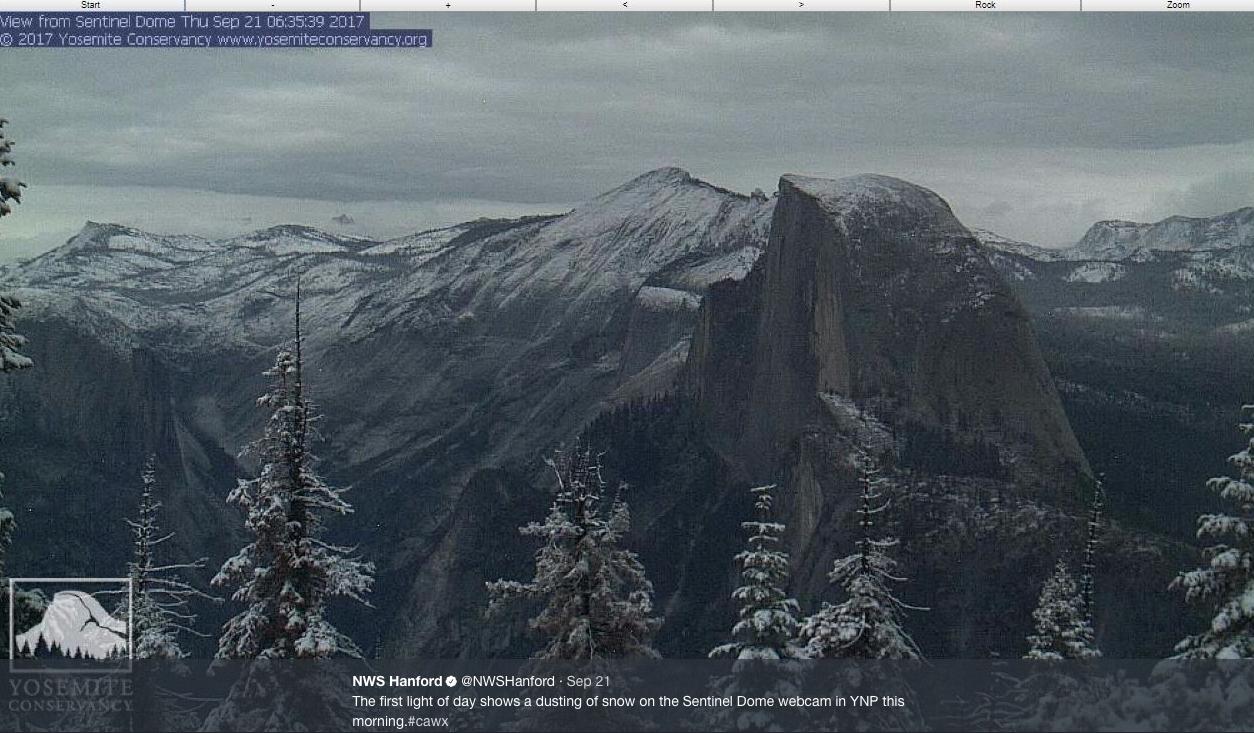 Early snow hits Yosemite